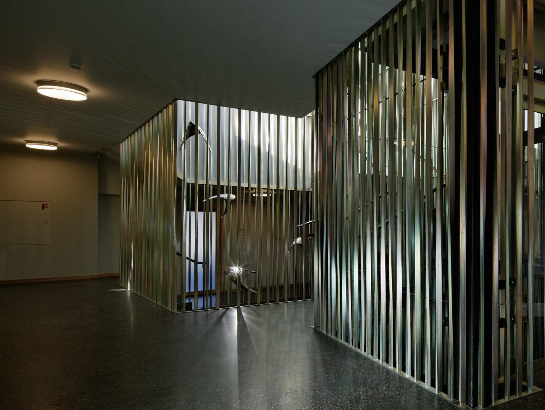 Lichtkunst im Treppenhaus